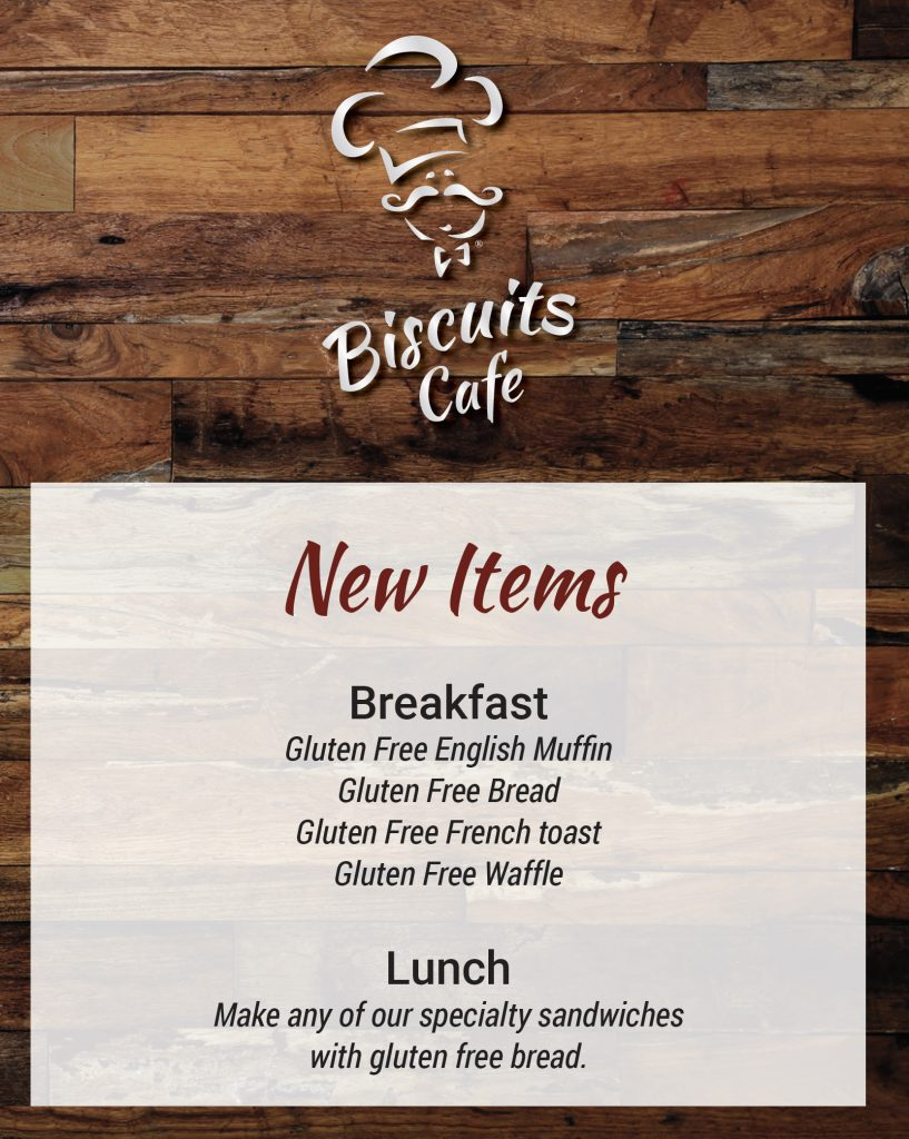 Biscuits Cafe Gluten Free Options